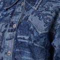 Print Denim Shirt