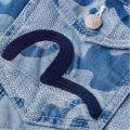 Needle Punched Camo Denim Jacket