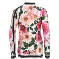 Junior Girls Floral Full Zip Sweater